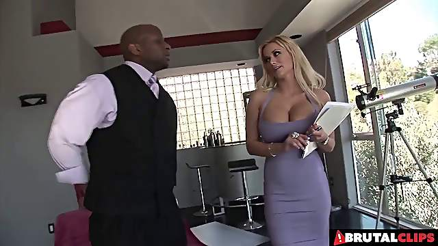 Shyla is a blonde sex goddess who loves black cocks above everything