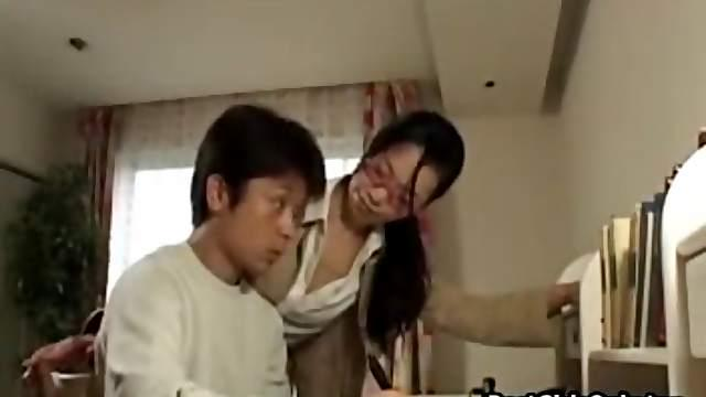 Sensual Japanese Milf Sex Teach Boyfriend
