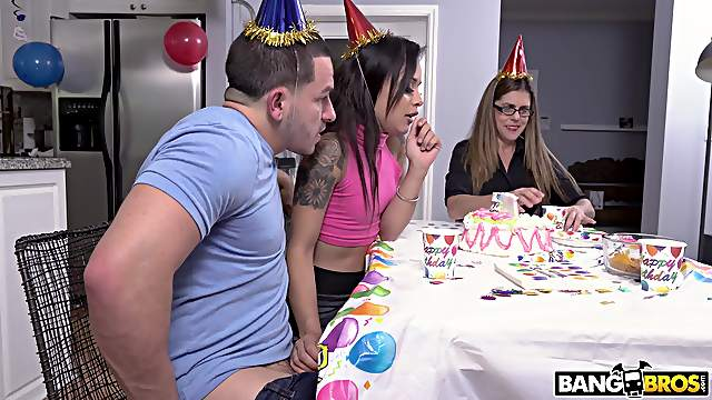 Amazing birthday party ends with anal sex for Holly Hendrix