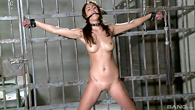 Dirty slave girl Diana Stewart enjoys being tortured with toys