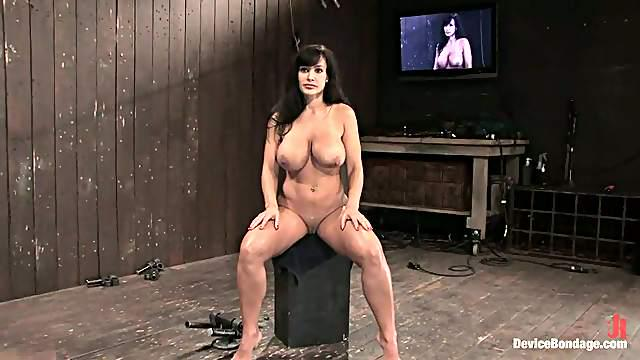 Busty MILF Lisa Ann Getting Domination and Bondage with Toying and Torture