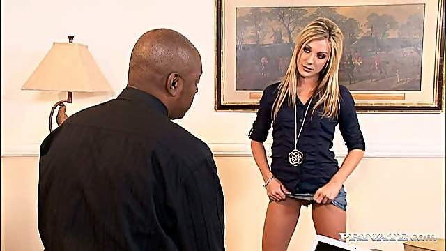Anal Interracial Hardcore Sex Video with Blonde Amy Brooke