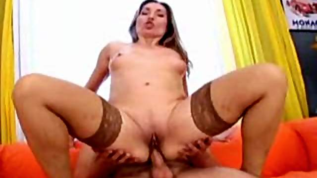 Tight asshole of stockings girl fucked