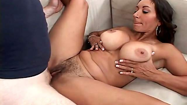 Hairy milf pussy filled with thick creampie