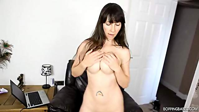 Full striptease from a fantastic busty British girl