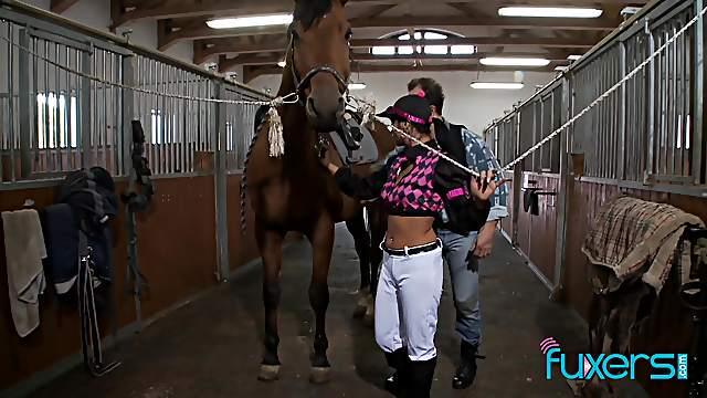 Tera Joy riding horse on farm