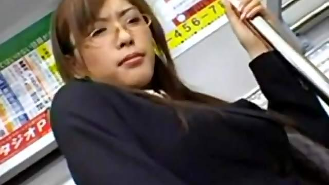Japanese hermaphrodite on train