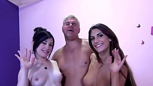 FFM threesome with stunning stars Jennifer White and August Ames