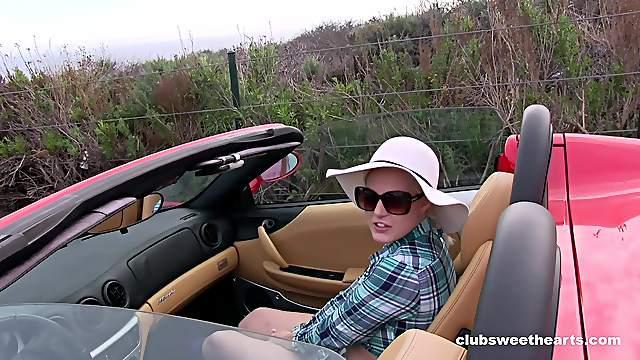 Facial ending for adorable blonde amateur teen Jenna Ivory