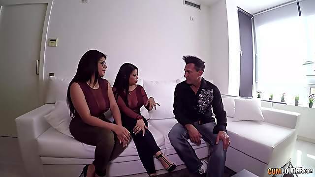 Busty Kesha Ortega and Sheila Ortega like to share a long dong