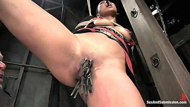 Bald Beauty Max Mikita Sucks and Gets Fucked in Bondage Video