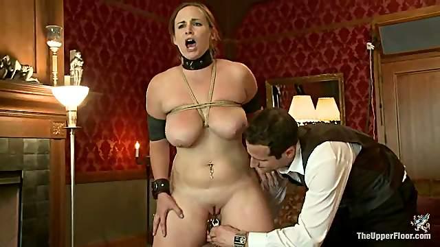 Bella Rossi Jerks Cock Off so Cum Falls on Cherry Torn's Face - BDSM Vid