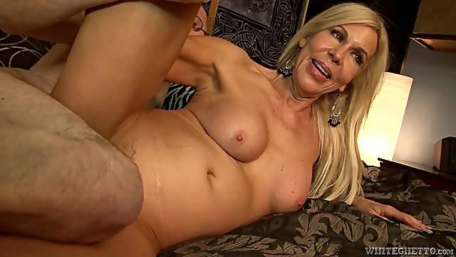 Blonde Mature Slut Gets Gangbanged Into Ecstasy