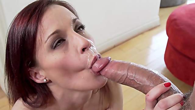 Superb POV blowjob sesson with lustful Jasmine Wolff