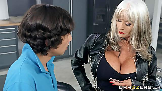 Mature Sally D'angelo is a cock hungry biker lady who loves to fuck