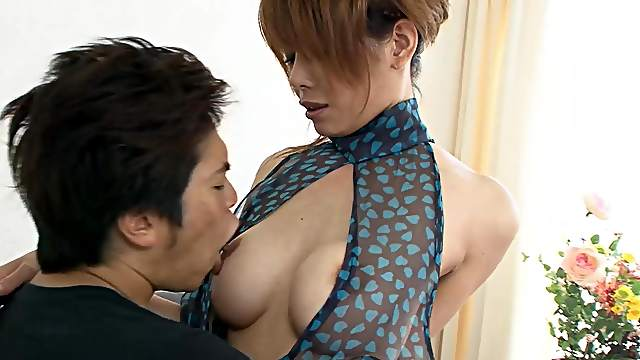Iori Miduki likes to fuck from behind and taste sperm