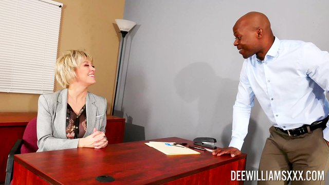 Mature is ready for her big dose of BBC at the office