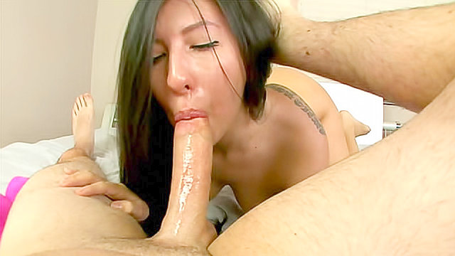 Wet deepthroat blowjob is arousing