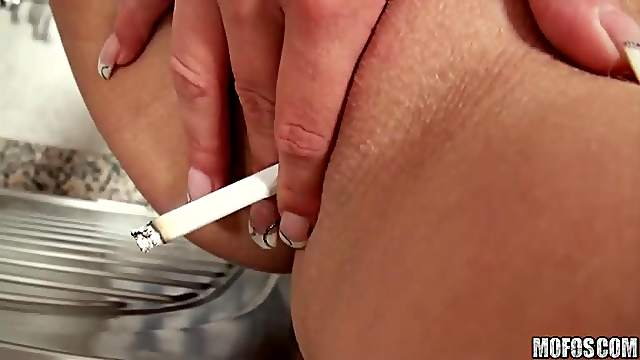 Smoking and fisting fetish video