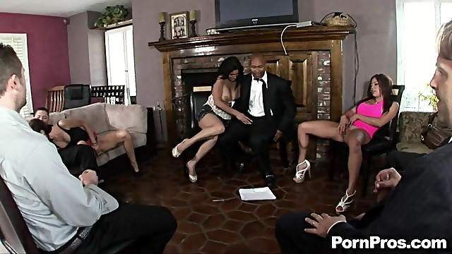 Anal Hardcore Sex and Blowjobs in Crazy Group Sex Orgy