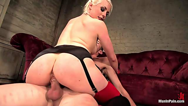 Femdom Action and Dick Torture and Cock Ride by Dominatrix