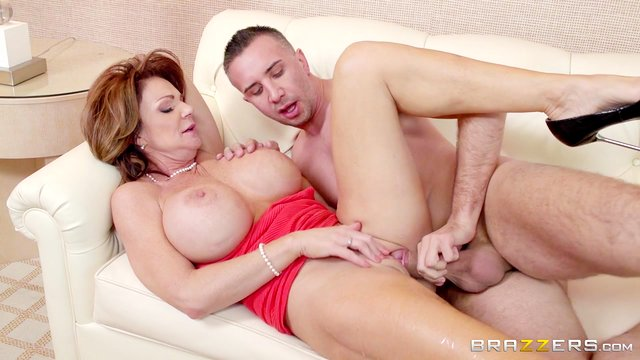 Cum in mouth ending to passionate fucking with a busty wife