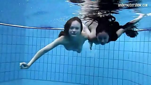 Teens look beautiful swimming in the nude