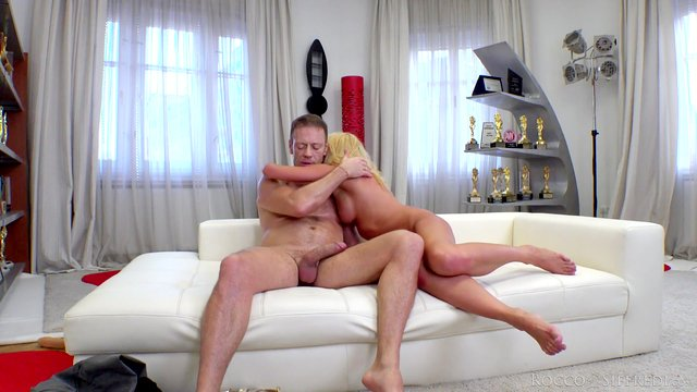 Rocco ass fucks gorgeous Russian in webcam delight