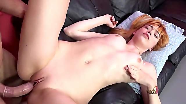 Anny Aurora enjoys cock with a condom on