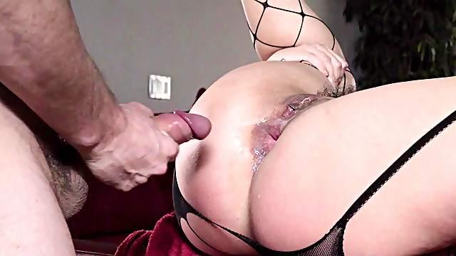 Allie Haze loves this hammer spinning inside her ass