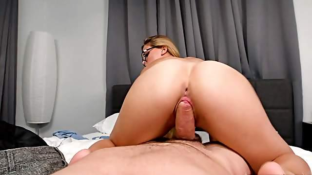 Insane POV reverse cock riding by Sloan Harper
