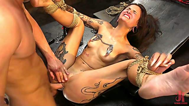 Thick babe gagged and anal fucked in full male domination XXX