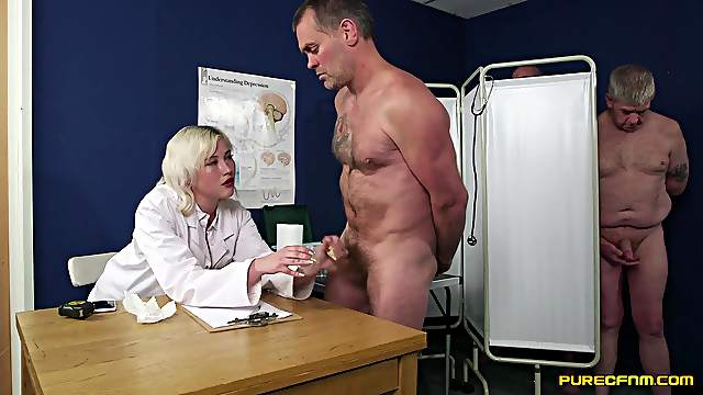 Sexual addiction for cock leads blonde doctor to insane orgy