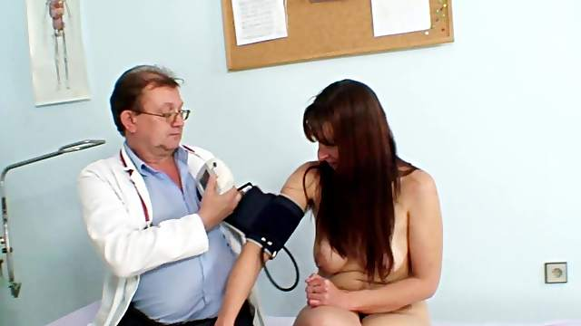 Full gyno exam for hairy Karin