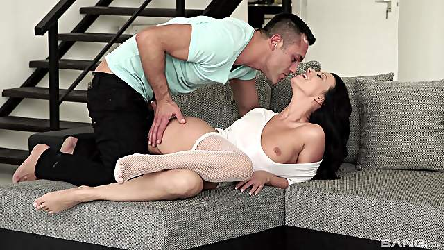 Amateur on the couch in scenes of merciless foot fetish porn