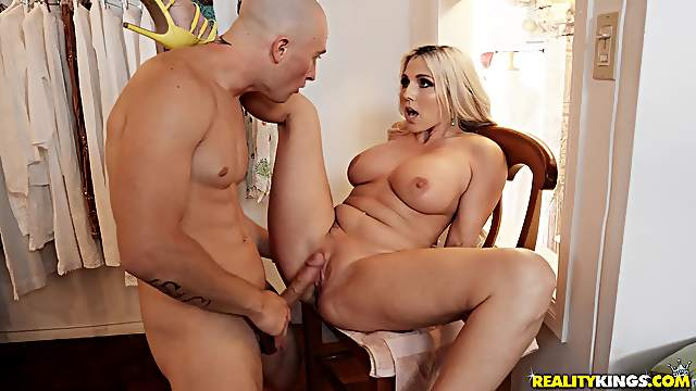 Christie Stevens fucked merciless and jizzed on her big tits